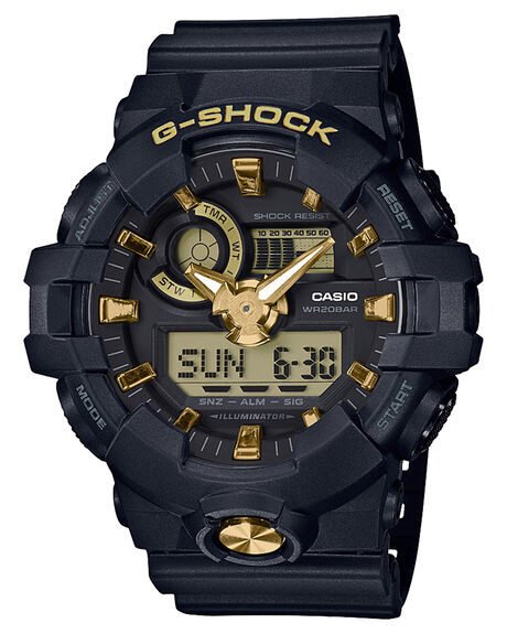 BLACK GOLD MENS ACCESSORIES G SHOCK WATCHES - GA710B-1A9BLKGD