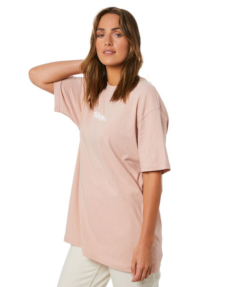 BLUSH WOMENS CLOTHING STUSSY TEES - ST115008BSH