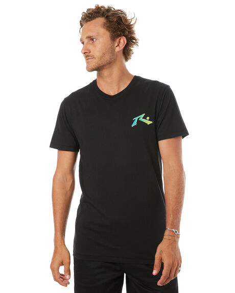 BLACK MENS CLOTHING RUSTY TEES - TTM1900BLK