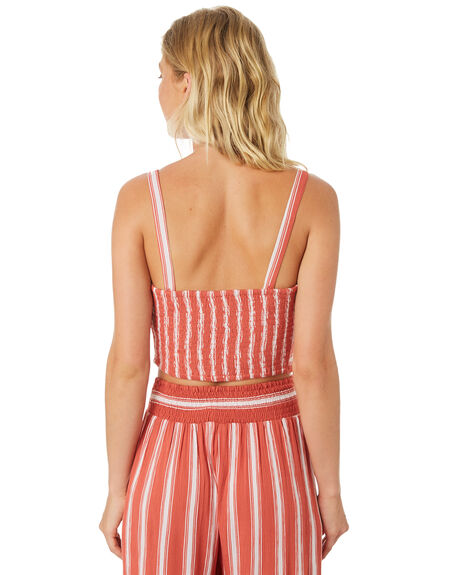 DUSTY CORAL IVORY OUTLET WOMENS BAND OF GYPSIES FASHION TOPS - WR324730-1535RCOR