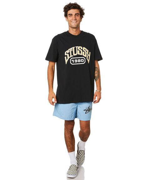 BLACK MENS CLOTHING STUSSY TEES - ST015014BLACK