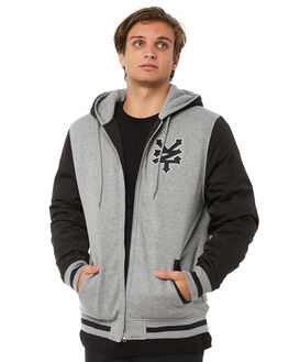 BLACK MENS CLOTHING ZOO YORK JUMPERS - ZY-MFA8162BLK