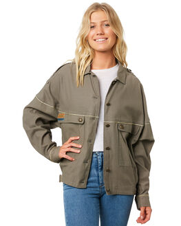OLIVE WOMENS CLOTHING RIP CURL JACKETS - GJKDD10058