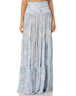 BLUE COMBO WOMENS CLOTHING FREE PEOPLE SKIRTS - OB9106664010