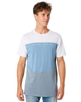 DENIM BLUE MENS CLOTHING RIP CURL TEES - CTEQR24983