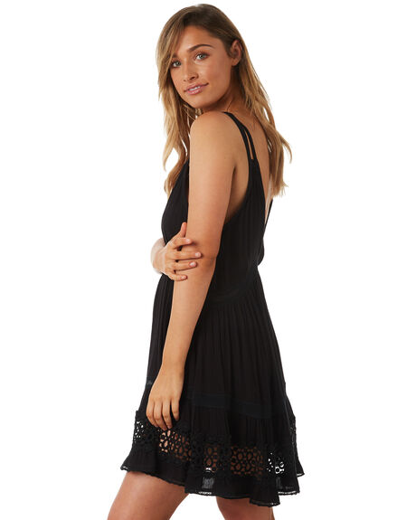 BLACK WOMENS CLOTHING TIGERLILY DRESSES - T382432BLK