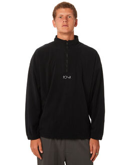 BLACK MENS CLOTHING POLAR SKATE CO. JUMPERS - PSCLWFLEECEBLK