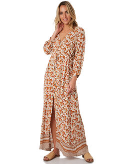 ORANGE WOMENS CLOTHING RIP CURL DRESSES - GDRIC10030