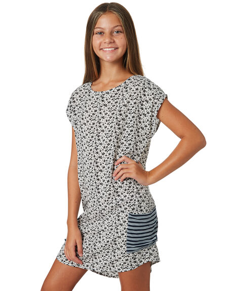 WHITE BLACK KIDS GIRLS EVES SISTER DRESSES + PLAYSUITS - 9520015WHTBK