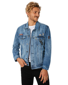 DOGTOWN DENIM MENS CLOTHING BARNEY COOLS JACKETS - 520-CR2DDNM