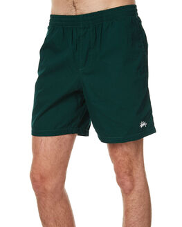 SOLID BOTTLE GREEN MENS CLOTHING STUSSY BOARDSHORTS - ST071611GRN
