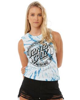 BLUE WOMENS CLOTHING SANTA CRUZ SINGLETS - SC-WTA8514BLU