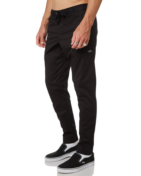 BLACK MENS CLOTHING RVCA PANTS - R381276BLK
