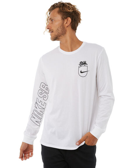 WHITE MENS CLOTHING NIKE TEES - 892819100