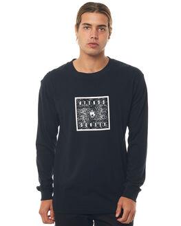 BLACK MENS CLOTHING AFENDS TEES - M181066BLK