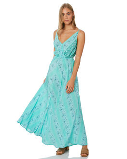 TURQUOISE WOMENS CLOTHING TIGERLILY DRESSES - T392474TURQ