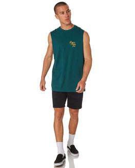 TEAL MENS CLOTHING RPM SINGLETS - 8HMT04ATEAL
