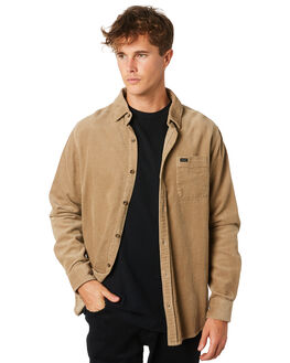 KHAKI MENS CLOTHING RIP CURL SHIRTS - CSHLT10064