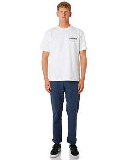 BLUE MENS CLOTHING CARHARTT PANTS - I021155-01BLU