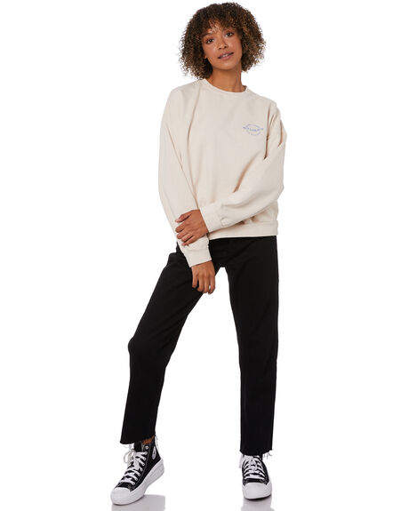 WHITE SAND WOMENS CLOTHING STUSSY JUMPERS - ST115302WSND
