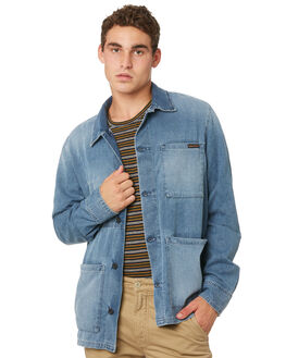 INDIGO BLUE MENS CLOTHING NUDIE JEANS CO JACKETS - 160597B26INDBL