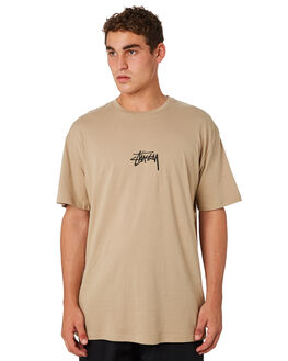 TAN MENS CLOTHING STUSSY TEES - ST082000TAN