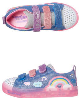RAINBOW GLOW KIDS GIRLS SKECHERS SNEAKERS - 20173LDMLT
