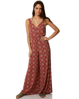 RUST RED WOMENS CLOTHING TIGERLILY PLAYSUITS + OVERALLS - T372429RRED