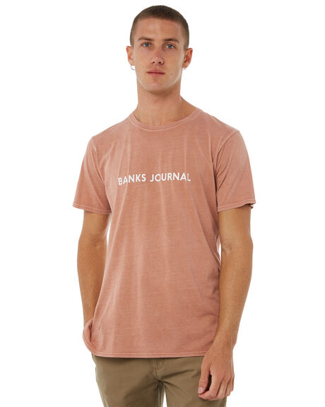 FADED PEACH MENS CLOTHING BANKS TEES - WTS0227FPC