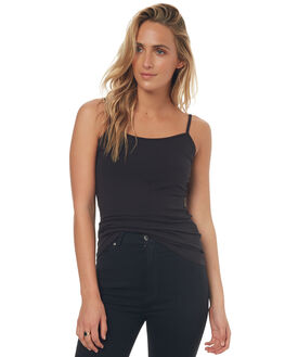 BLACK WOMENS CLOTHING BETTY BASICS SINGLETS - BB200BLK