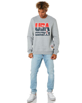 GREY MARLE USA MENS CLOTHING MITCHELL AND NESS JUMPERS - 6173TEAMUSAGRYML
