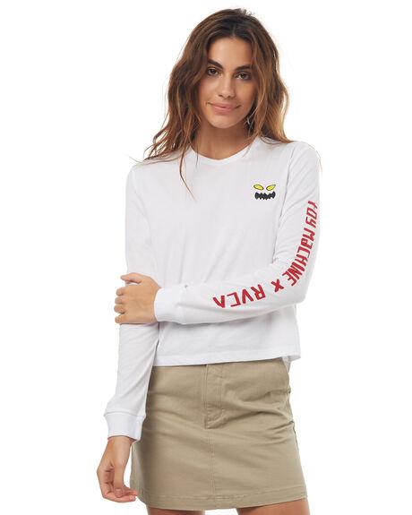 WHITE WOMENS CLOTHING RVCA TEES - R272091WHT