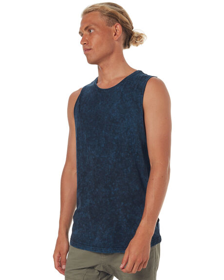 FJORD MENS CLOTHING SILENT THEORY SINGLETS - 4085001NAVY