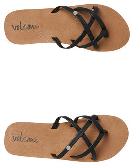 BLACK KIDS GIRLS VOLCOM THONGS - T0811750BLK