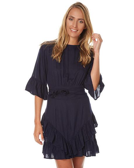 NAVY WOMENS CLOTHING LILYA DRESSES - RVD18NVY