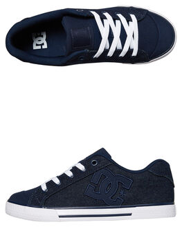 DARK BLUE WOMENS FOOTWEAR DC SHOES SNEAKERS - ADJS300025DBL