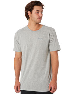 DARK GREY HEATHER MENS CLOTHING HURLEY TEES - AJ1739063