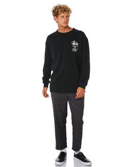 BLACK MENS CLOTHING STUSSY TEES - ST006012BLK