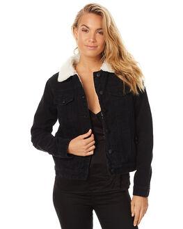 BLACK WOMENS CLOTHING THE HIDDEN WAY JACKETS - H8172382BLK