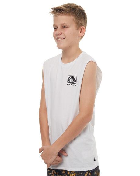 WHITE KIDS BOYS SWELL SINGLETS - S3171271WHT