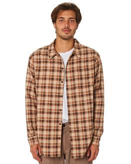 ALMOND MENS CLOTHING RHYTHM SHIRTS - JAN19M-WT02-ALM