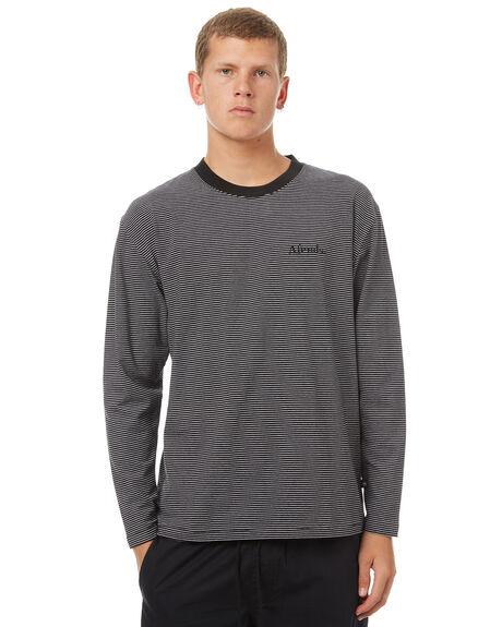 BLACK MENS CLOTHING AFENDS TEES - 02-02-092BLK