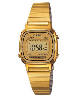 GOLD WOMENS ACCESSORIES CASIO WATCHES - LA670WGA-9GLD