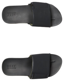 BLACK MENS FOOTWEAR REEF SLIDES - A3OL5BLA