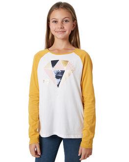WHITE GOLDEN HONEY KIDS GIRLS EVES SISTER TEES - 9910056WHT