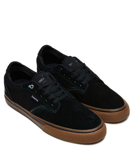 BLACK GUM MENS FOOTWEAR EMERICA SKATE SHOES - 6102000130964