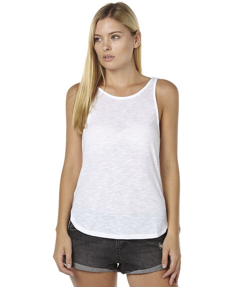 WHITE WOMENS CLOTHING SILENT THEORY SINGLETS - 6062007WHT