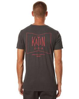 BLACK MENS CLOTHING KATIN TEES - TSGRUS17BLK