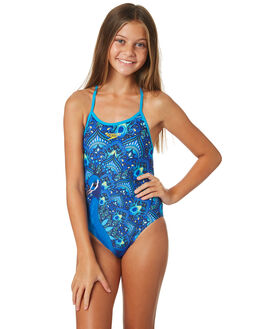 PEACOCK PAISLEY KIDS GIRLS SPEEDO SWIMWEAR - 4247B-7260PCKPS