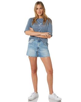 DENIM BLUE WOMENS CLOTHING SILENT THEORY TEES - 6053017DEN